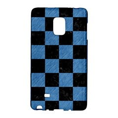 Square1 Black Marble & Blue Colored Pencil Samsung Galaxy Note Edge Hardshell Case by trendistuff
