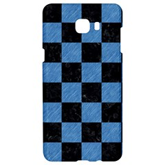 Square1 Black Marble & Blue Colored Pencil Samsung C9 Pro Hardshell Case