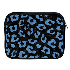 Skin5 Black Marble & Blue Colored Pencil (r) Apple Ipad Zipper Case by trendistuff