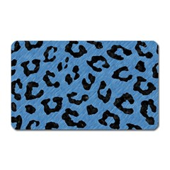 Skin5 Black Marble & Blue Colored Pencil Magnet (rectangular) by trendistuff