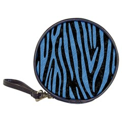 Skin4 Black Marble & Blue Colored Pencil (r) Classic 20 Cd Wallet by trendistuff