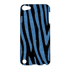 Skin4 Black Marble & Blue Colored Pencil (r) Apple Ipod Touch 5 Hardshell Case by trendistuff
