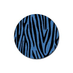 Skin4 Black Marble & Blue Colored Pencil Rubber Round Coaster (4 Pack) by trendistuff