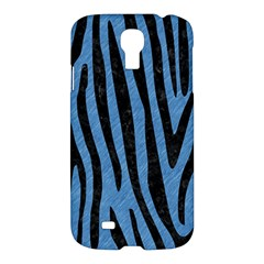 Skin4 Black Marble & Blue Colored Pencil Samsung Galaxy S4 I9500/i9505 Hardshell Case by trendistuff