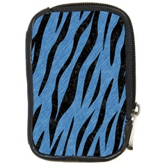 Skin3 Black Marble & Blue Colored Pencil (r) Compact Camera Leather Case