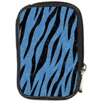 SKIN3 BLACK MARBLE & BLUE COLORED PENCIL (R) Compact Camera Leather Case Front
