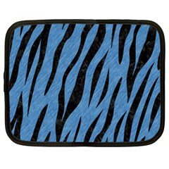 Skin3 Black Marble & Blue Colored Pencil (r) Netbook Case (xxl) by trendistuff