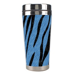 Skin3 Black Marble & Blue Colored Pencil (r) Stainless Steel Travel Tumbler by trendistuff