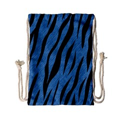 Skin3 Black Marble & Blue Colored Pencil (r) Drawstring Bag (small) by trendistuff