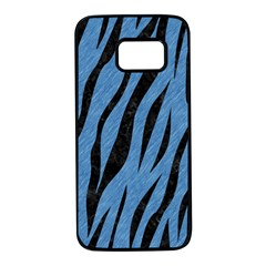 Skin3 Black Marble & Blue Colored Pencil (r) Samsung Galaxy S7 Black Seamless Case by trendistuff