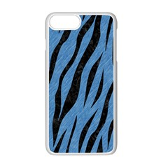 Skin3 Black Marble & Blue Colored Pencil (r) Apple Iphone 7 Plus White Seamless Case by trendistuff