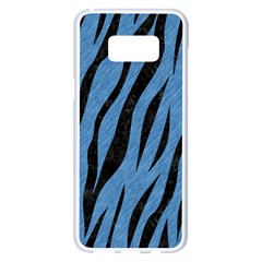 Skin3 Black Marble & Blue Colored Pencil (r) Samsung Galaxy S8 Plus White Seamless Case
