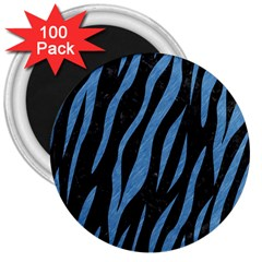 Skin3 Black Marble & Blue Colored Pencil 3  Magnet (100 Pack) by trendistuff