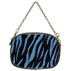 Skin3 Black Marble & Blue Colored Pencil Chain Purse (one Side) by trendistuff