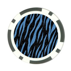 Skin3 Black Marble & Blue Colored Pencil Poker Chip Card Guard (10 Pack) by trendistuff