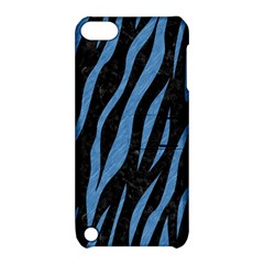Skin3 Black Marble & Blue Colored Pencil Apple Ipod Touch 5 Hardshell Case With Stand by trendistuff