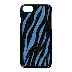 Skin3 Black Marble & Blue Colored Pencil Apple Iphone 7 Seamless Case (black) by trendistuff