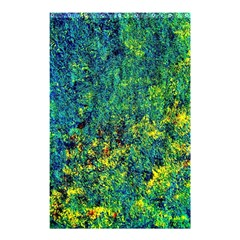 Flowers Abstract Yellow Green Shower Curtain 48  X 72  (small)  by Costasonlineshop