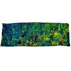 Flowers Abstract Yellow Green Body Pillow Case (dakimakura) by Costasonlineshop
