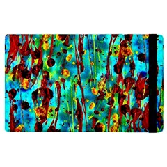 Turquoise Blue Green  Painting Pattern Apple Ipad Pro 9 7   Flip Case by Costasonlineshop
