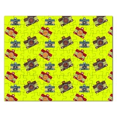 Camera Pattern                Jigsaw Puzzle (rectangular) by LalyLauraFLM