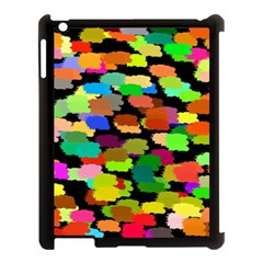 Colorful Paint On A Black Background           Apple Ipad Mini Hardshell Case (compatible With Smart Cover)