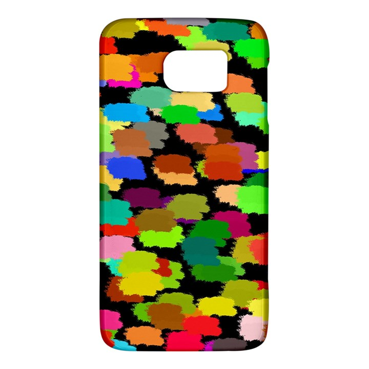 Colorful paint on a black background           HTC One M9 Hardshell Case