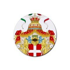 Coat Of Arms Of The Kingdom Of Italy Rubber Round Coaster (4 Pack)  by abbeyz71