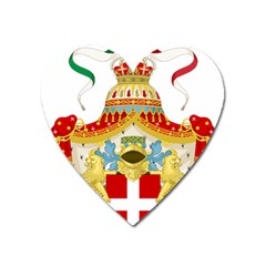 Coat Of Arms Of The Kingdom Of Italy Heart Magnet by abbeyz71
