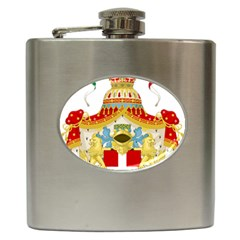 Coat Of Arms Of The Kingdom Of Italy Hip Flask (6 Oz) by abbeyz71