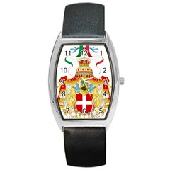 Coat Of Arms Of The Kingdom Of Italy Barrel Style Metal Watch by abbeyz71