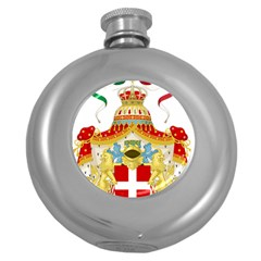 Coat Of Arms Of The Kingdom Of Italy Round Hip Flask (5 Oz) by abbeyz71