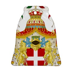 Coat Of Arms Of The Kingdom Of Italy Bell Ornament (two Sides) by abbeyz71