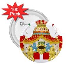 Coat Of Arms Of The Kingdom Of Italy 2 25  Buttons (100 Pack)  by abbeyz71