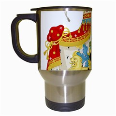 Coat Of Arms Of The Kingdom Of Italy Travel Mugs (white) by abbeyz71