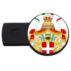 Coat Of Arms Of The Kingdom Of Italy Usb Flash Drive Round (4 Gb) by abbeyz71
