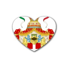 Coat Of Arms Of The Kingdom Of Italy Heart Coaster (4 Pack)  by abbeyz71