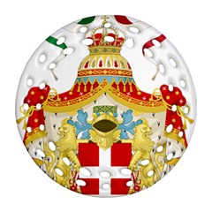Coat Of Arms Of The Kingdom Of Italy Round Filigree Ornament (two Sides) by abbeyz71