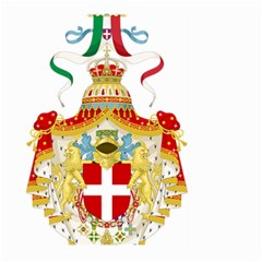 Coat Of Arms Of The Kingdom Of Italy Large Garden Flag (two Sides) by abbeyz71