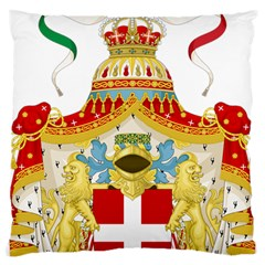 Coat Of Arms Of The Kingdom Of Italy Large Cushion Case (one Side) by abbeyz71