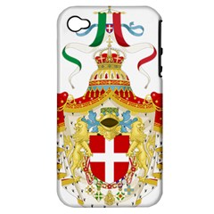 Coat Of Arms Of The Kingdom Of Italy Apple Iphone 4/4s Hardshell Case (pc+silicone) by abbeyz71