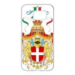 Coat Of Arms Of The Kingdom Of Italy Samsung Galaxy S7 Edge White Seamless Case by abbeyz71