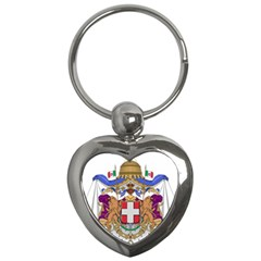 Greater Coat Of Arms Of Italy, 1870 1890  Key Chains (heart)  by abbeyz71