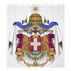 Greater Coat Of Arms Of Italy, 1870 1890  Shower Curtain 66  X 72  (large)  by abbeyz71