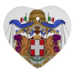 Greater Coat Of Arms Of Italy, 1870 1890 Heart Ornament (two Sides) by abbeyz71