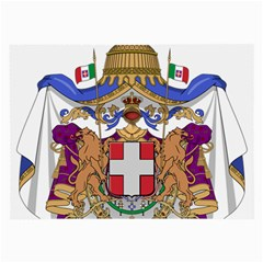 Greater Coat Of Arms Of Italy, 1870 1890 Large Glasses Cloth by abbeyz71