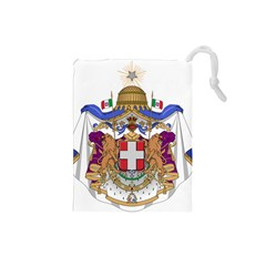 Greater Coat Of Arms Of Italy, 1870-1890 Drawstring Pouches (small)  by abbeyz71