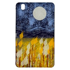 Blue And Gold Landscape With Moon Samsung Galaxy Tab Pro 8 4 Hardshell Case by digitaldivadesigns