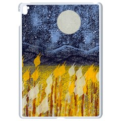 Blue And Gold Landscape With Moon Apple Ipad Pro 9 7   White Seamless Case by digitaldivadesigns