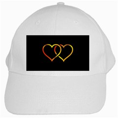 Heart Gold Black Background Love White Cap by Nexatart